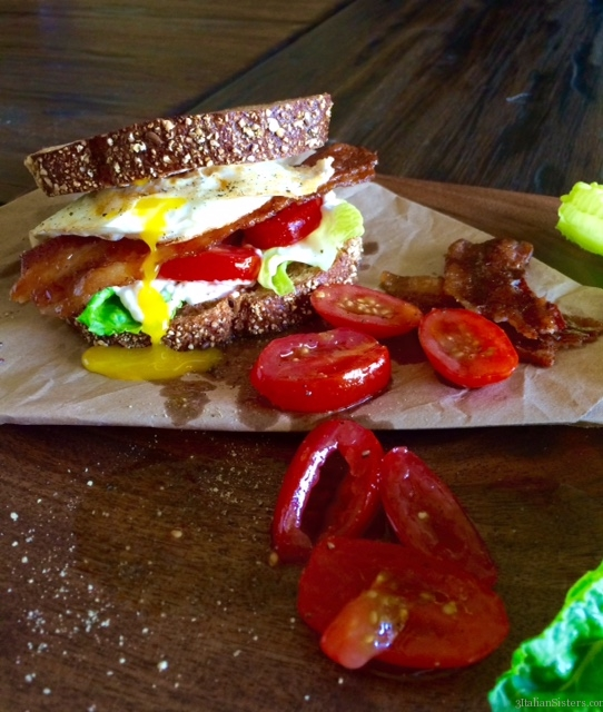 Candied Bacon BLT with a Fried Egg! | 3 Italian Sisters