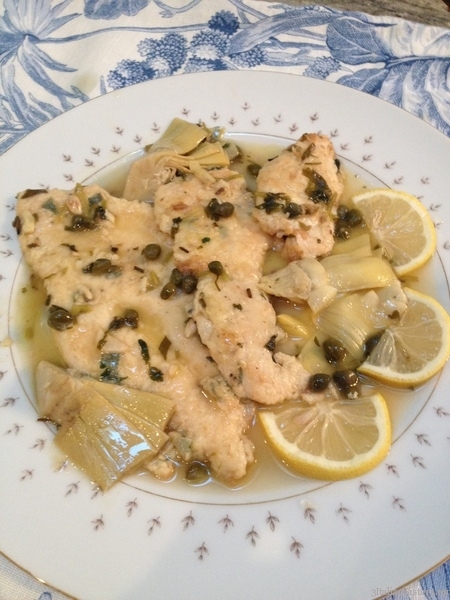 Escalope of Chicken with Artichokes and Capers | 3 Italian Sisters